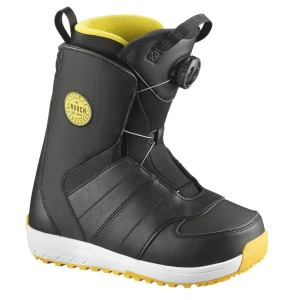 Buty Salomon Launch JR Boa Black/Yellow /2018